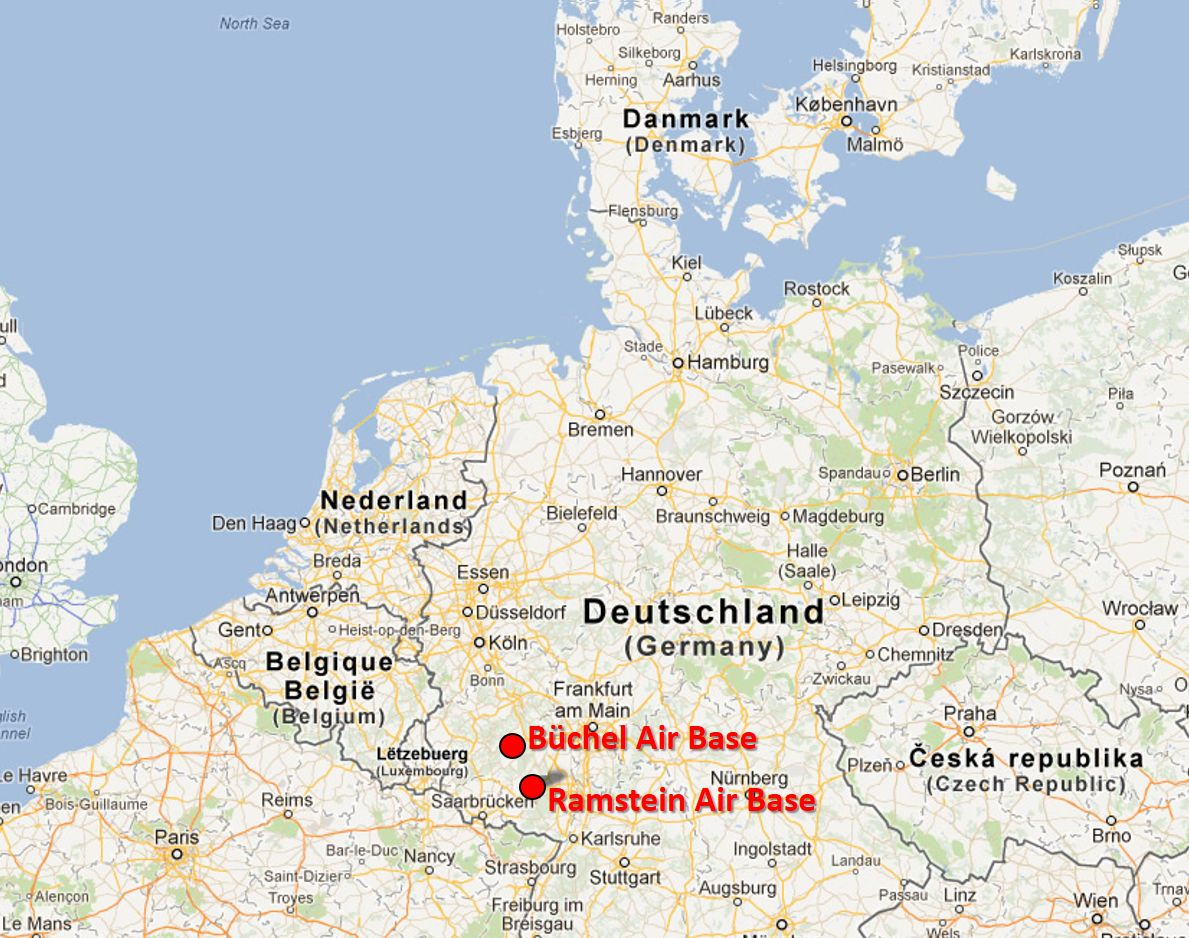 Global Network Report From Ramstein - Germany map ramstein